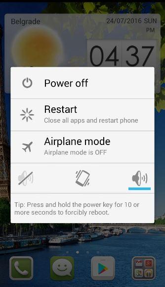 حل مشکل آنتن ندادن در گوشیهای اندروید با ریستارت کردن گوشی